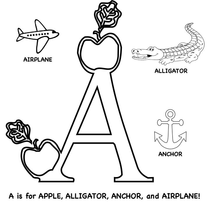 Letter A Phonics For Pk K Painting Turning Pointe Educational Canvases Drawings Illustration Childrens Art School Artpal