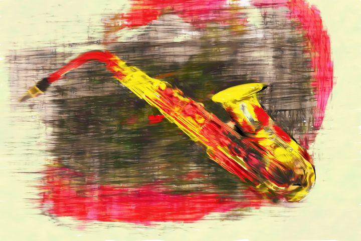 abstract saxophone - david ridley