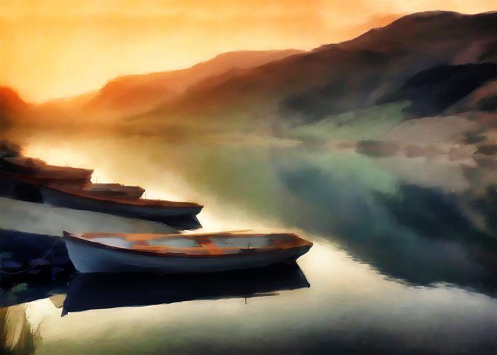sunset on the lake - david ridley