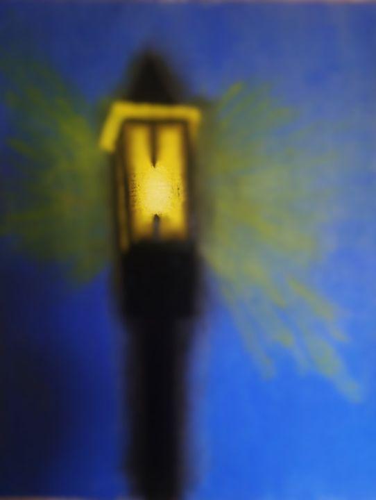 Lamp Post - One eyed dog