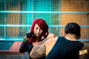 Black Widow hand to hand combat