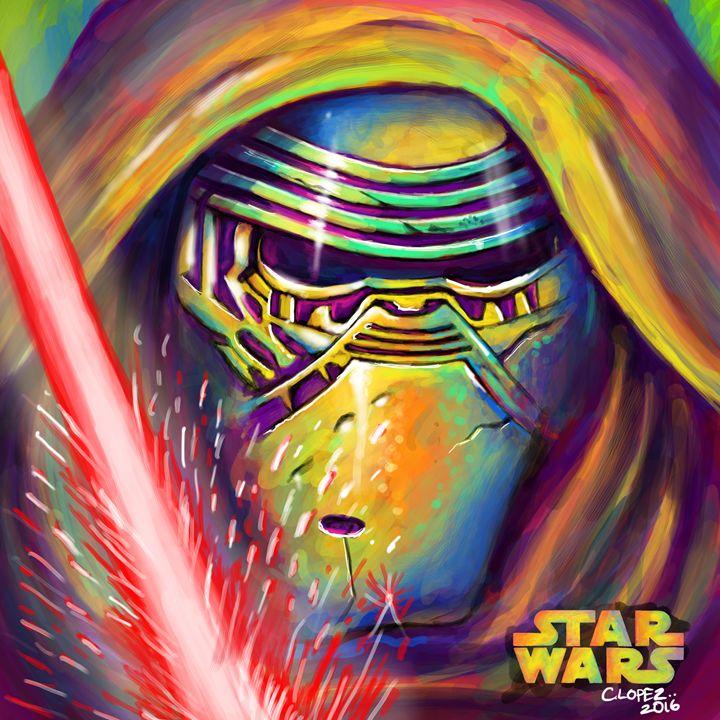 Kylo Ren Star Wars - Chris Lopez Art