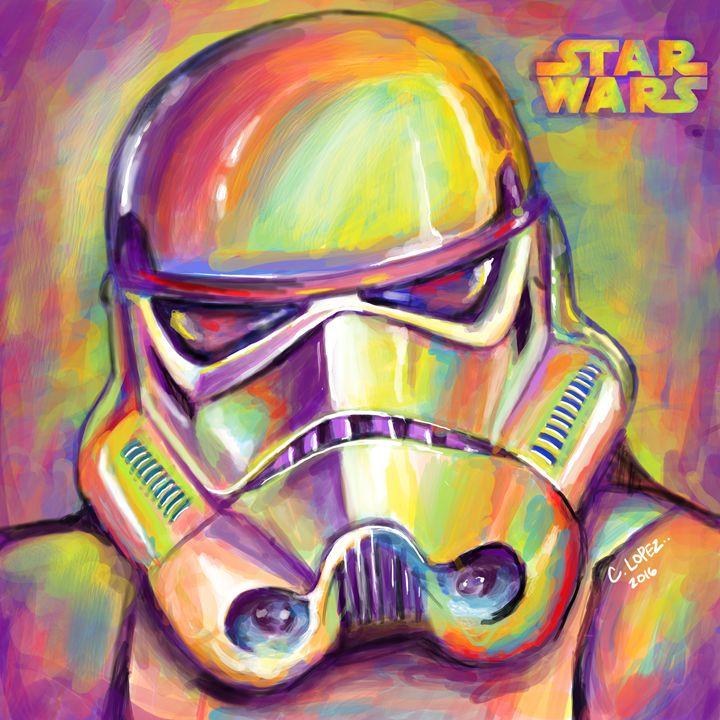 Storm Trooper Painting - Chris Lopez Art