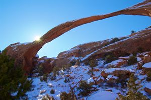 Sunrise at Landscape Arch