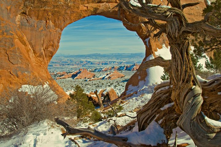 Arches in Winter - Roy Breslawski Nature Photography