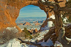 Arches in Winter