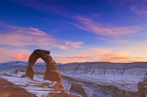 Delicate Arch Winter Sunset