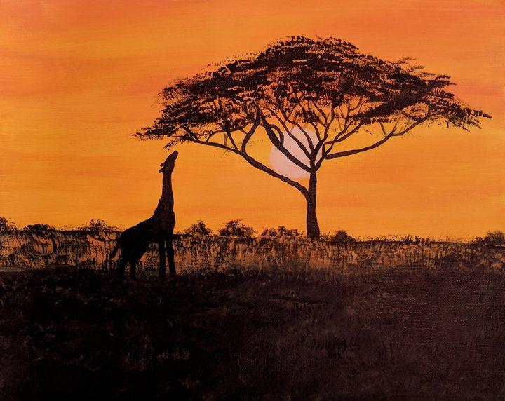 African sunset - Shadystrokes