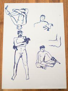 Nude drawing, nude study.