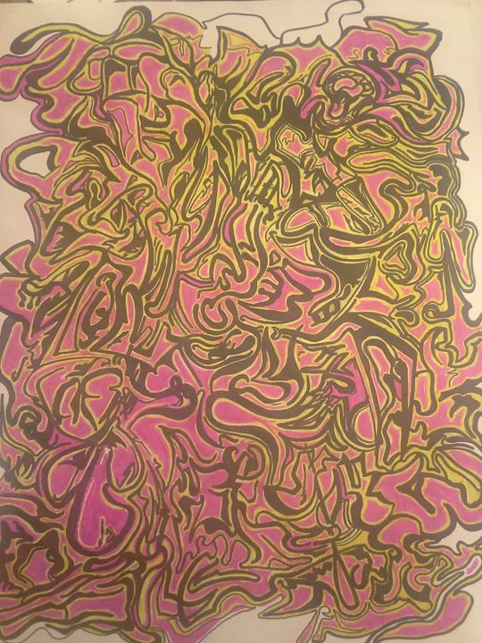abstract drawing on paper - Eric Tuttle Designs