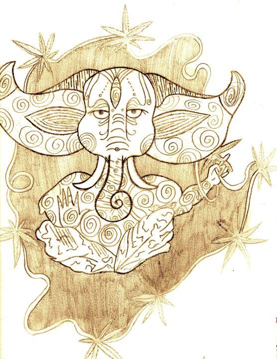 Stoned elephant - Adriana's Art