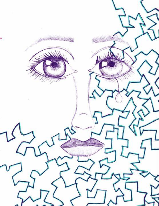 Puzzled face - Adriana's Art