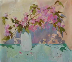Sakura _ oil on canvas