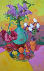 Flowering time _ oil on canvas