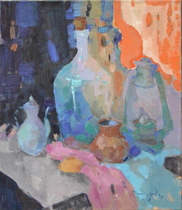 Bottle and lamp - Shandor Alexander