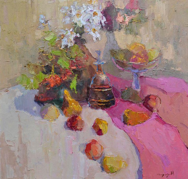 With Viburnum _ oil on canvas - Shandor Alexander
