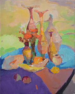 Mysterious pitchers _ oil on canvas
