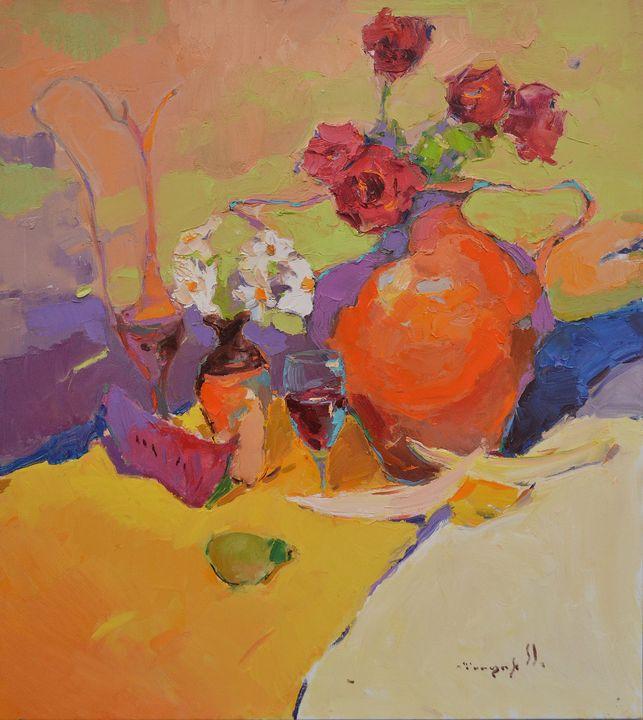 Sunny Still Life _ oil on canvas - Shandor Alexander