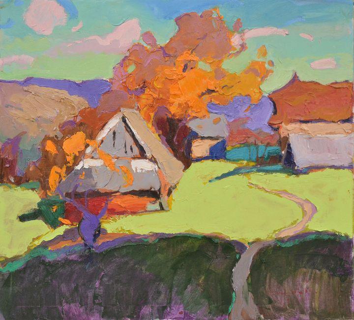 Old village _ oil on canvas - Shandor Alexander
