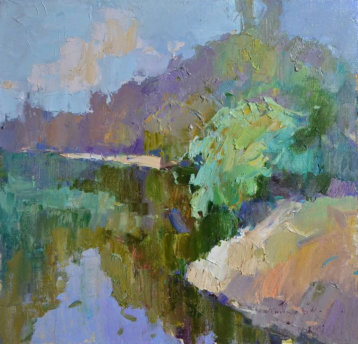 On the river Tisza in summer - Shandor Alexander