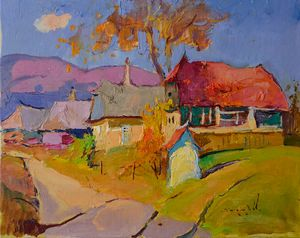Golden autumn _ oil on canvas