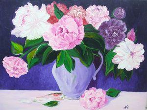 Spring flowers - 30X40cm, oil