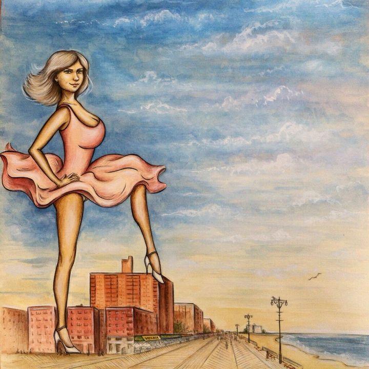 Original Cover illustration - Princess Of Brighton Beach
