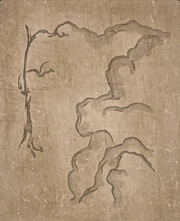 Highland Sketch with Dead Tree - 2 - Maxim
