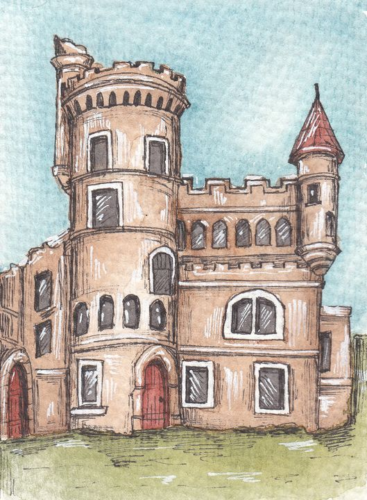 Abandoned castle - Create Yourself Illustrations