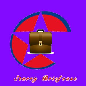 Starry Briefcase Logo Design Templat