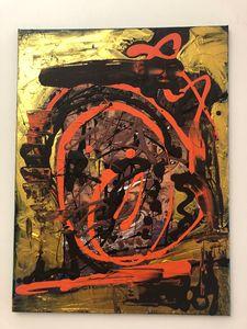 Orange on Gold by Alan Goris