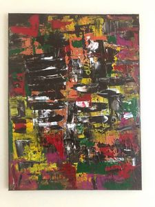 Abstract Wall -Acrylic on Canvas