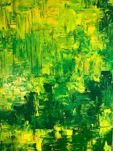 Abstract Green By Alan Goris