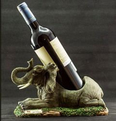 Elephant Carving Wine Holder