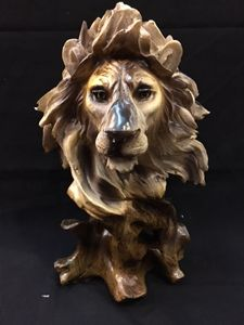 Lion Head Carving