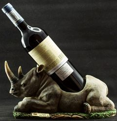 Carved Rhino Wine Holder - Stramaxstore