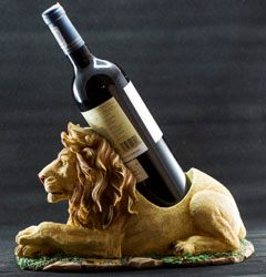 Lion Carved Wine Holder - Stramaxstore