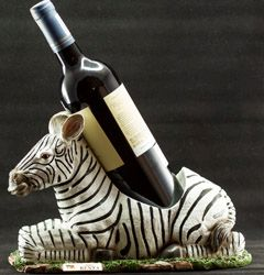 Zebra Carving Wine Holder