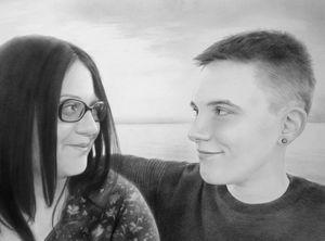 Custom portrait commission sample