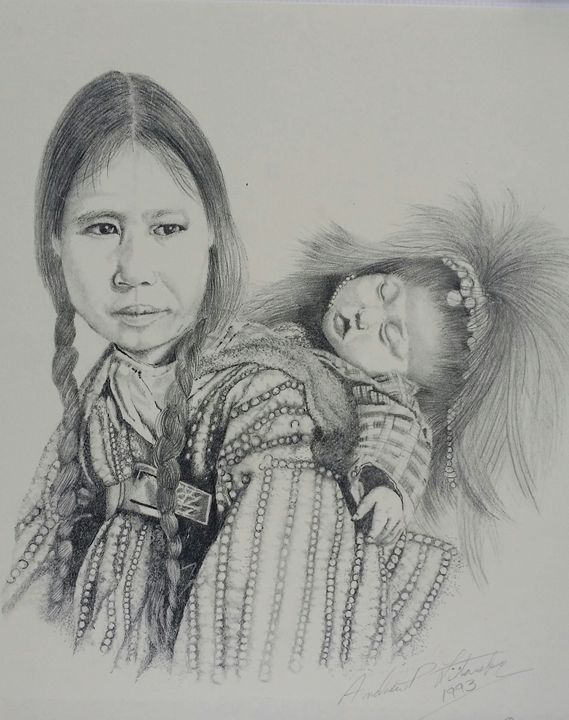 Indian woman with Baby - Andrew Litavsky