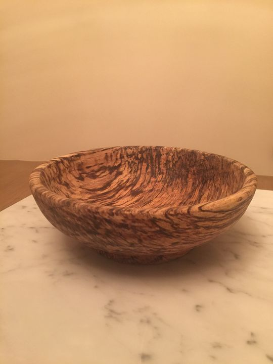 Spalted tiger maple bowl - LP