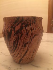 Spalted Pin oak vase