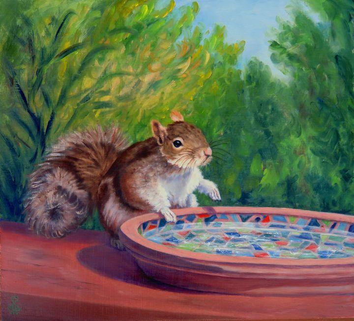 At the Water Dish - Vicki Van Vynckt