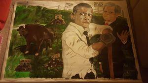 Obama cleans up Bush's bull shit.