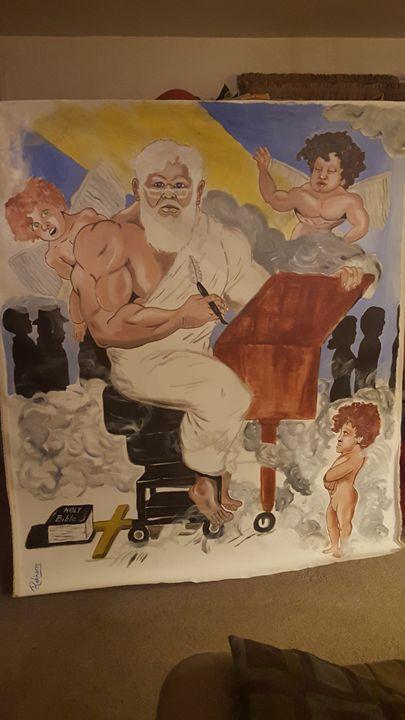 """God at work."" - Million Art"