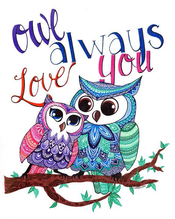 Owl Always Love You - Nadine's Zentanglements