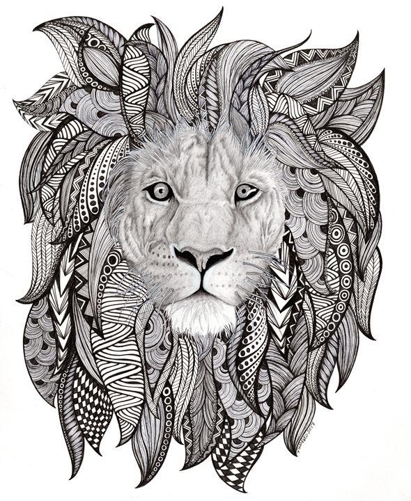 King of the Jungle - Nadine's Zentanglements