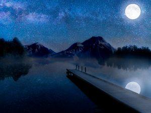 Beautiful night on the lake