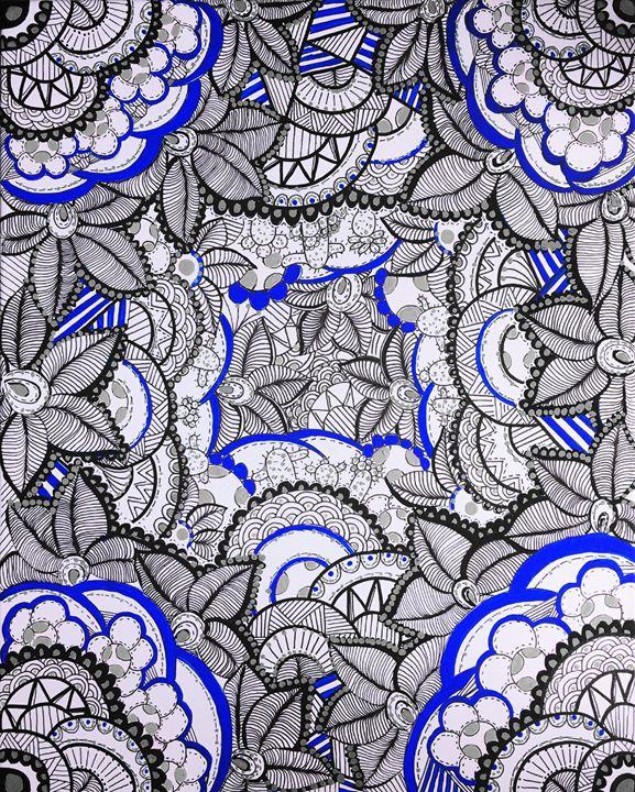 Nature's Kaleidoscope Blue - TSIMU - Tricia Santa Ines Mutobe
