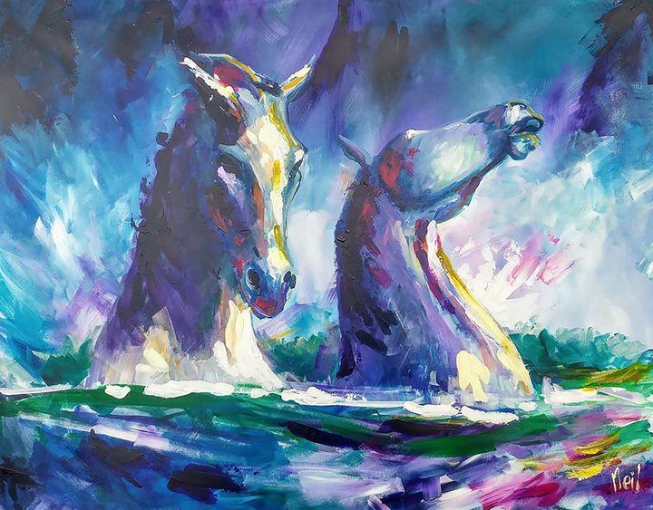 The Kelpies - Neil G Smith Art